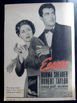 Escape (1940) - Norma Shearer | Vintage Trade Ad